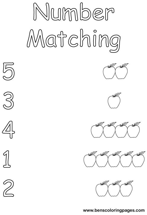 number matching coloring pages matching numbers for kids coloring page coloring number matching pages
