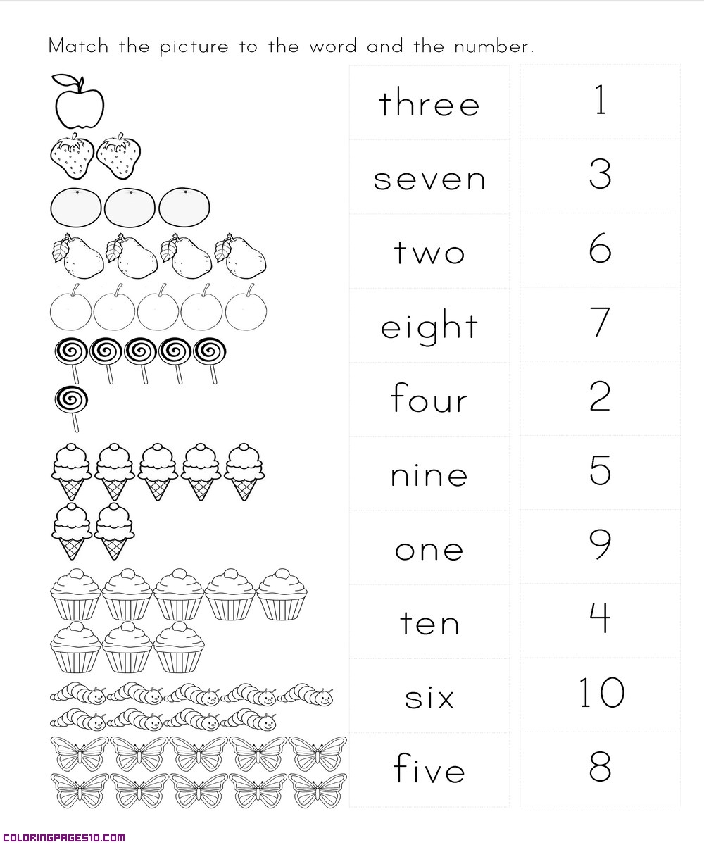 number matching coloring pages number matching 1 10 coloring page twisty noodle matching coloring pages number