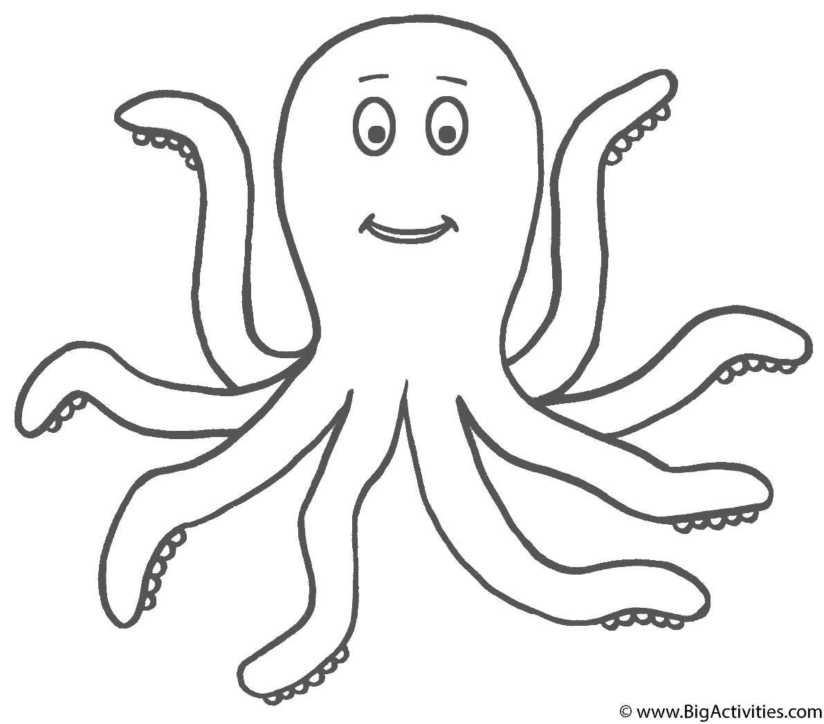octopus coloring picture coloring page of octopus coloring home octopus coloring picture