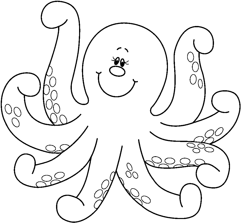 Octopus coloring picture
