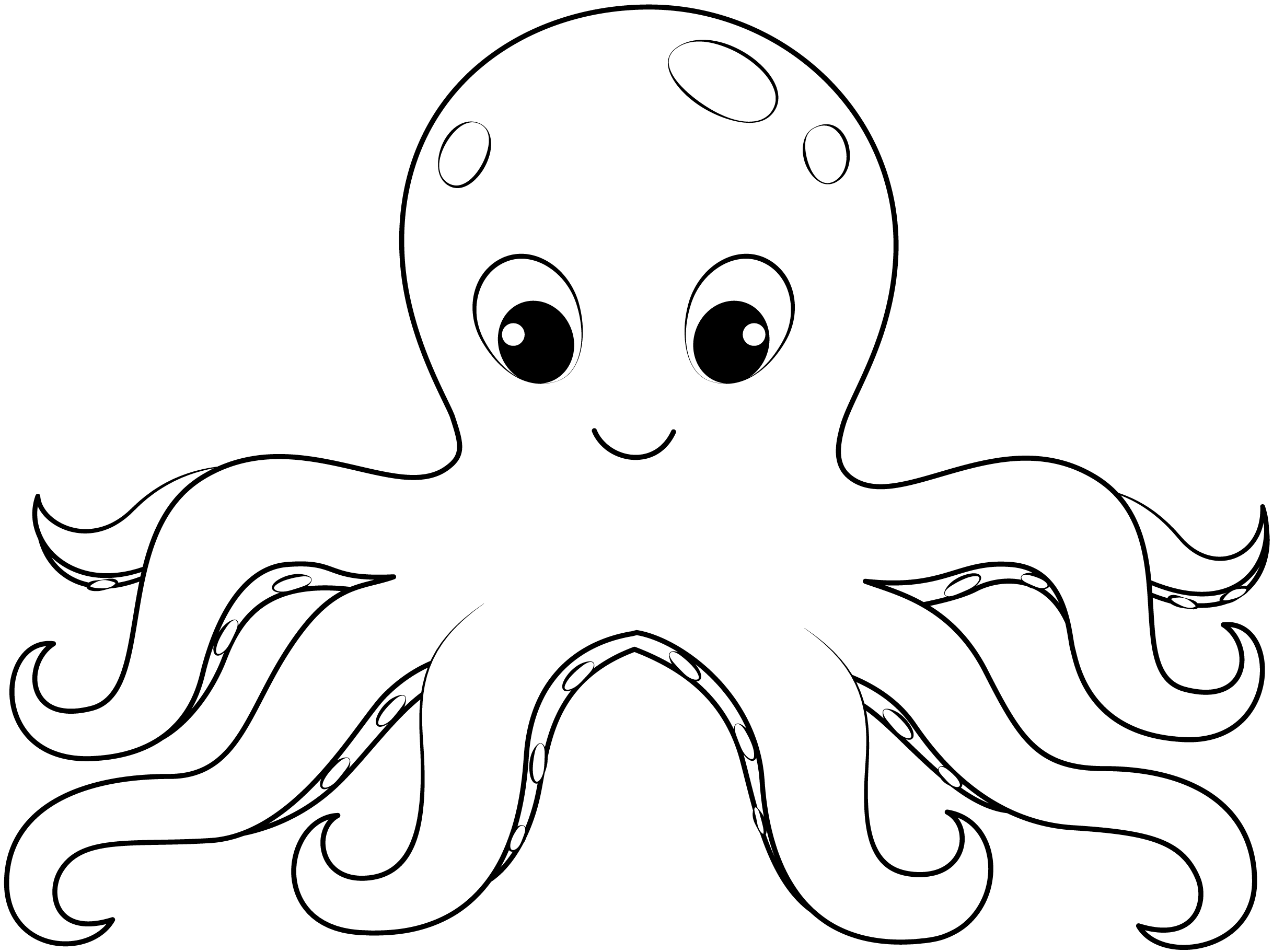 octopus coloring picture octopus coloring pages kiddo octopus coloring picture