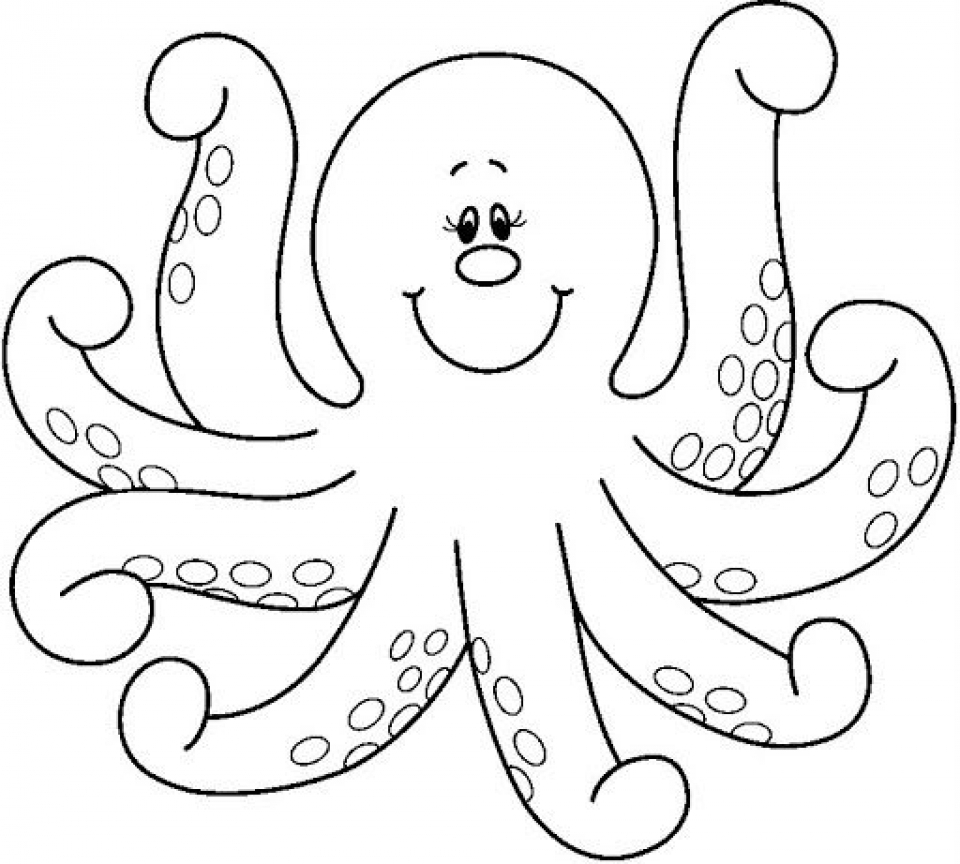 octopus pictures for coloring cartoon octopus coloring page free printable coloring pages pictures octopus coloring for