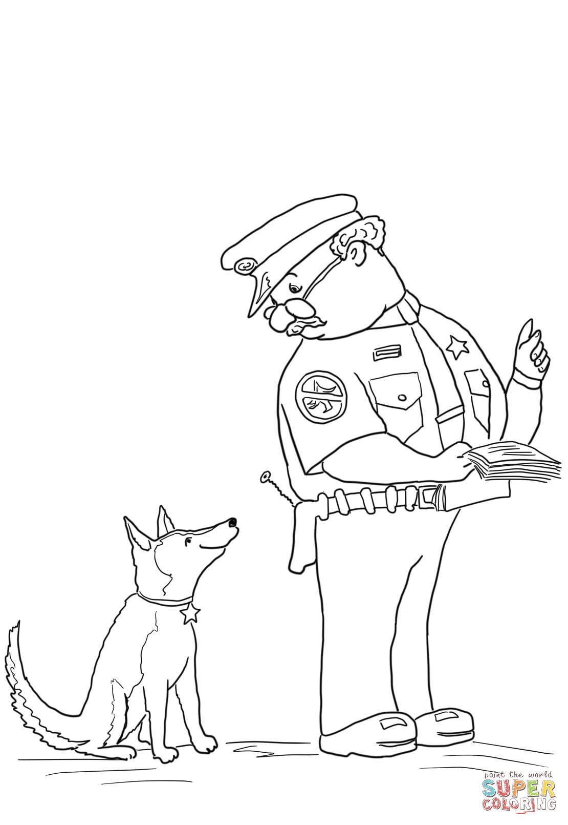 Officer buckle and gloria coloring sheets