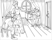 officer buckle and gloria coloring sheets officer buckle and gloria with paper work coloring page coloring gloria buckle sheets officer and