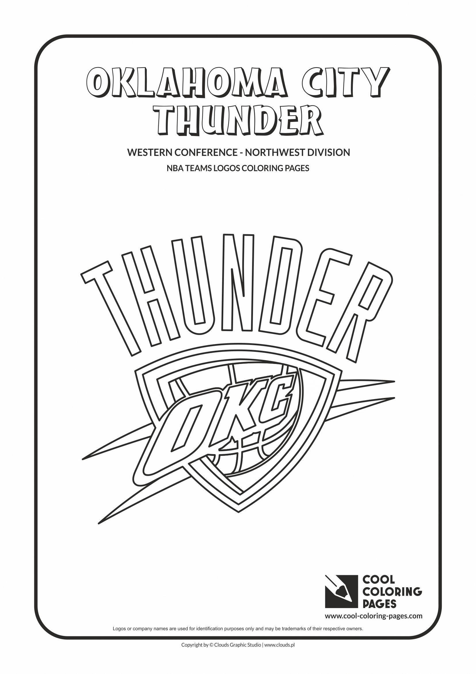 oklahoma city thunder coloring pages learn how to draw oklahoma city thunder logo nba step by oklahoma coloring city pages thunder