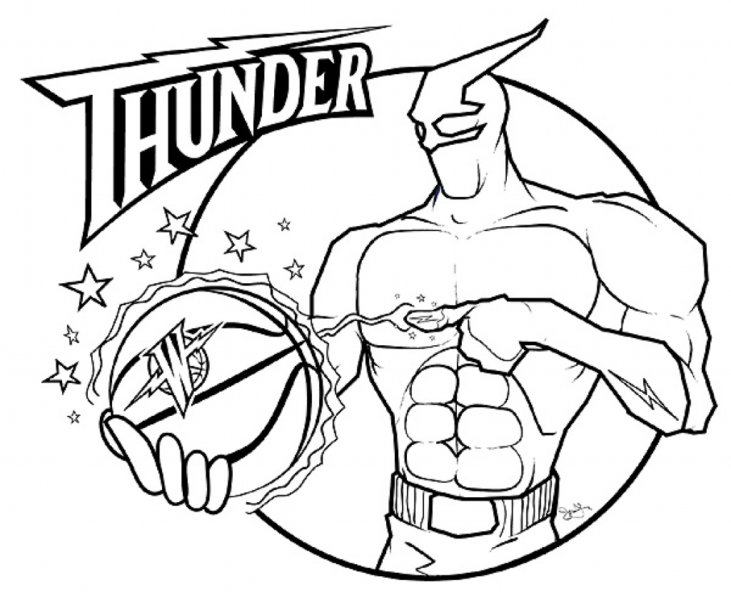 oklahoma city thunder coloring pages printable nba coloring pages free sports coloring pages pages oklahoma coloring thunder city