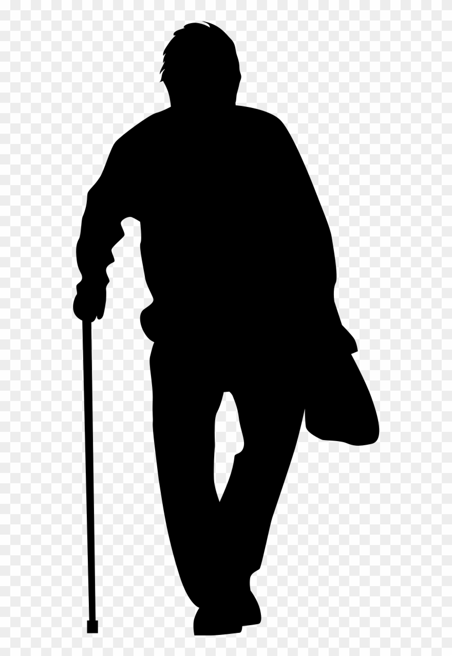 old man silhouette 10 elderly old person silhouette png transparent silhouette man old