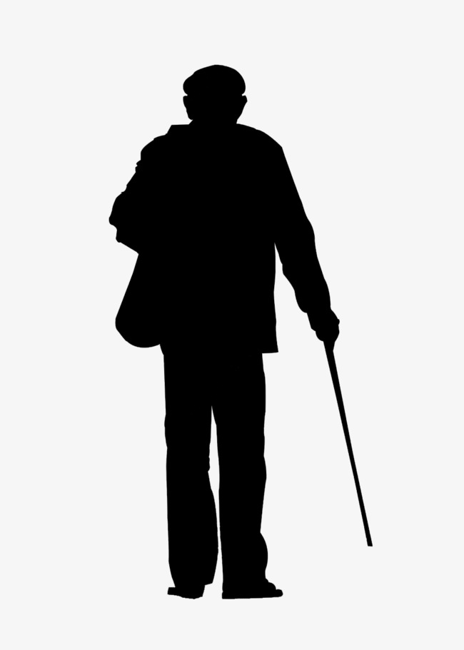 old man silhouette silhouette of an old man at getdrawings free download man old silhouette