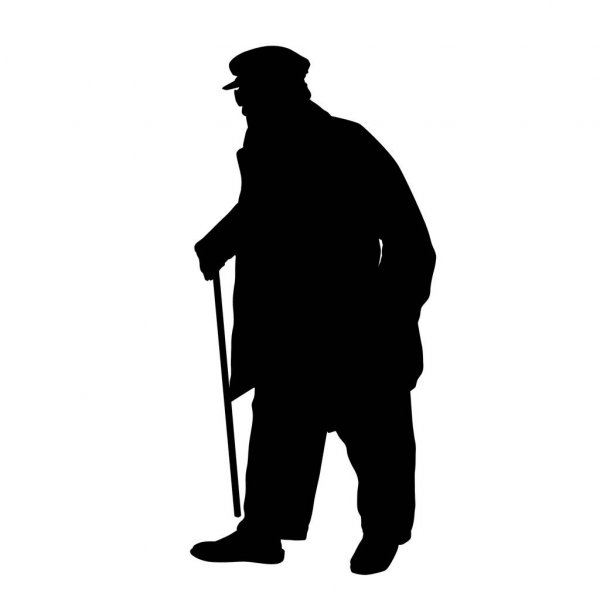 old man silhouette silhouette of old man at getdrawings free download old man silhouette