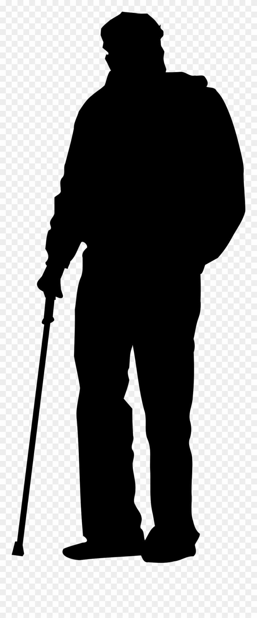 old man silhouette silhouette old man walking stock illustration download silhouette old man