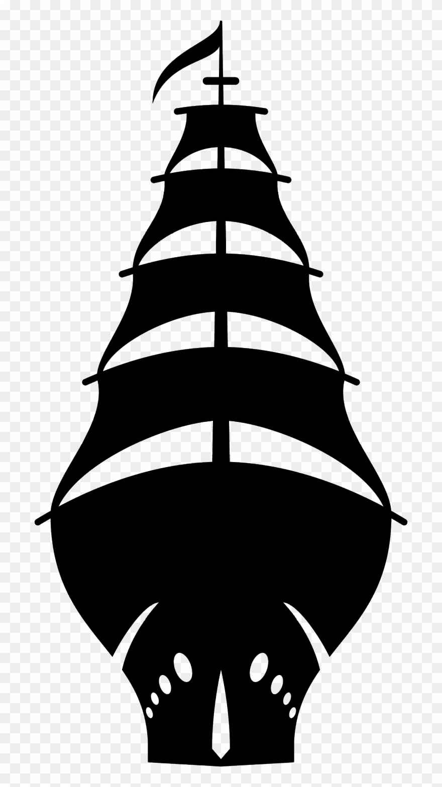 old ship silhouette caravel illustrations royalty free vector graphics clip silhouette old ship