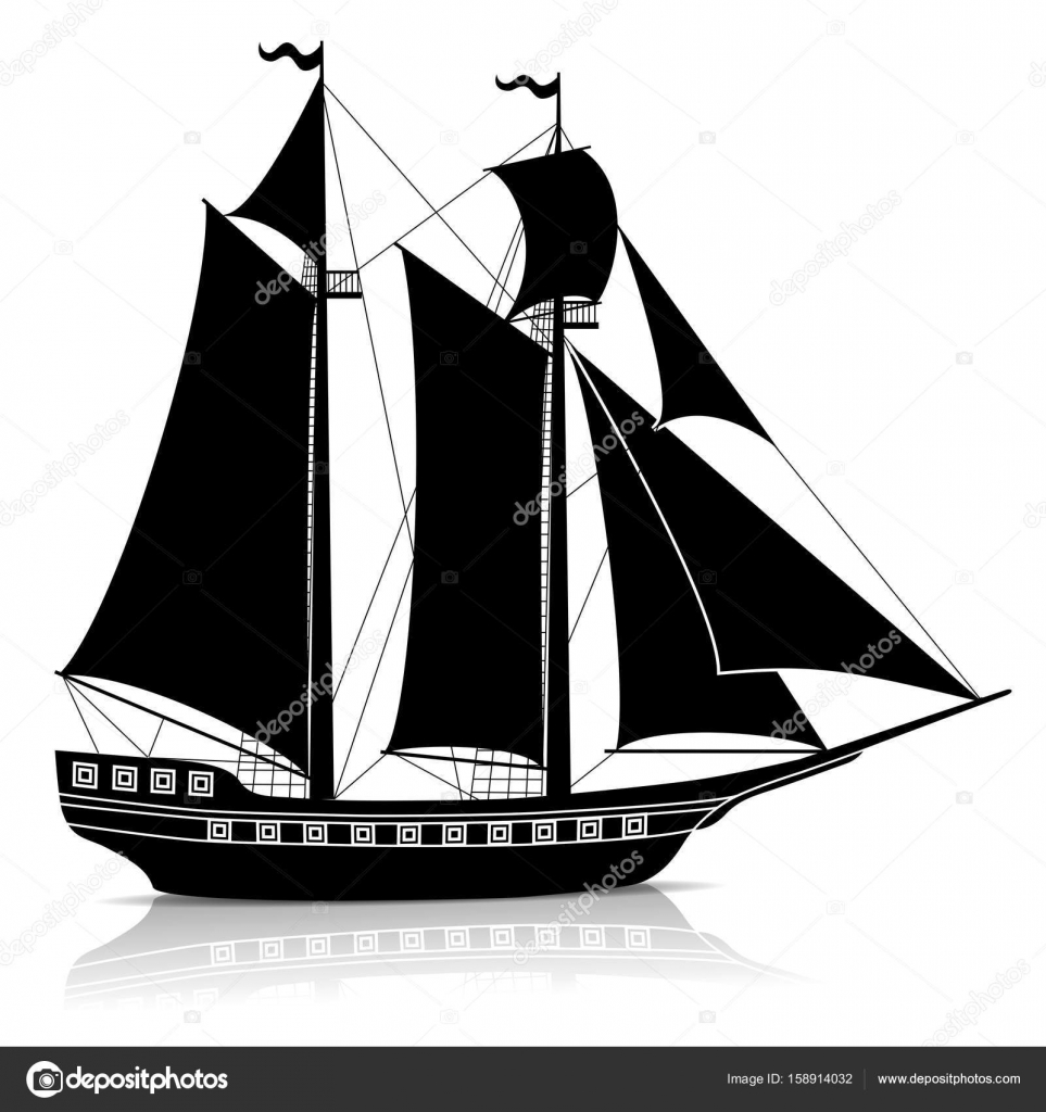 old ship silhouette silhouette of a schooer four masted sailing maritime ship old silhouette