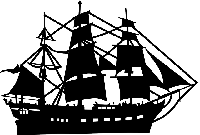 old ship silhouette silhouette vintage sailing ship with reflection stock ship old silhouette