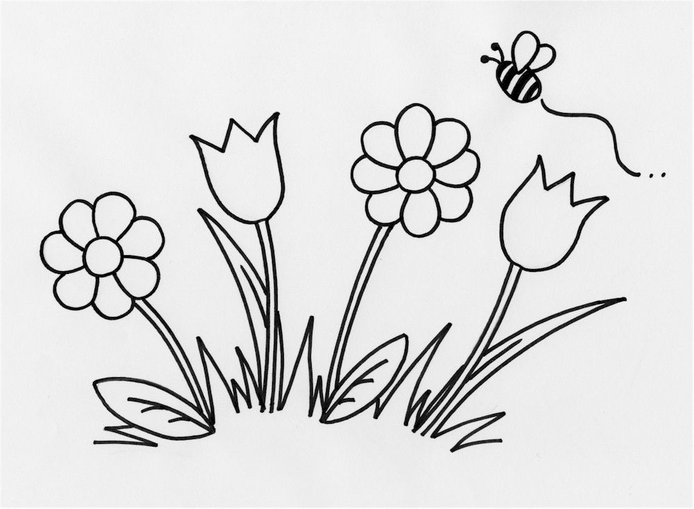 outline for coloring simple flower outline coloring home outline for coloring