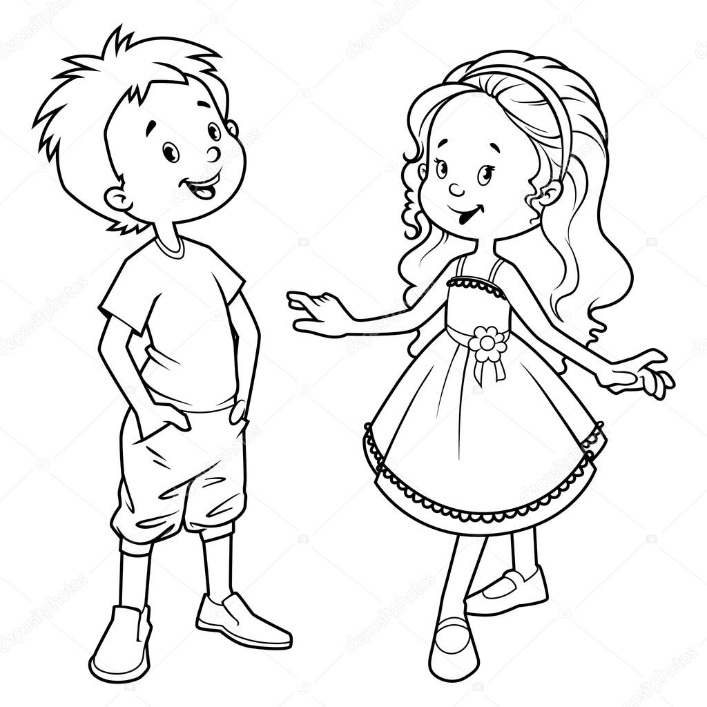 outline of a boy and girl coloring pages boy girl outline primary pinterest sunday school of boy and girl a outline pages coloring