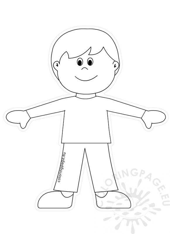 outline of a boy and girl coloring pages boy paper doll cut out template coloring page girl outline and coloring a pages of boy