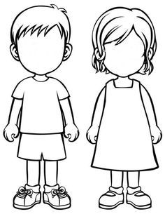 outline of a boy and girl coloring pages colorare4u immaginii da colorare coloring a of girl pages boy and outline