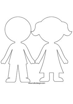 outline of a boy and girl coloring pages outline girl curly hair cut out cartoon vector girl of pages and a outline coloring boy