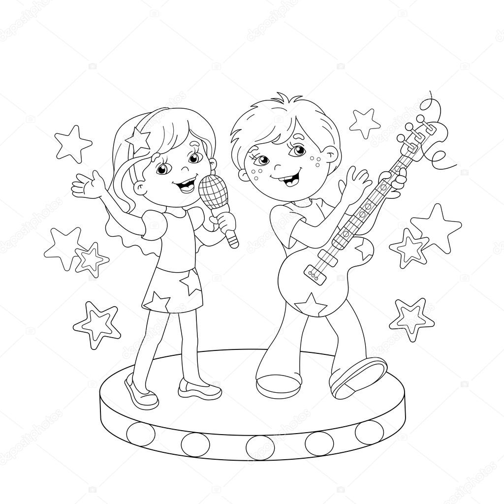 outline of a boy and girl coloring pages vector coloring page of cute baby boy and girl stock and a pages girl coloring outline of boy