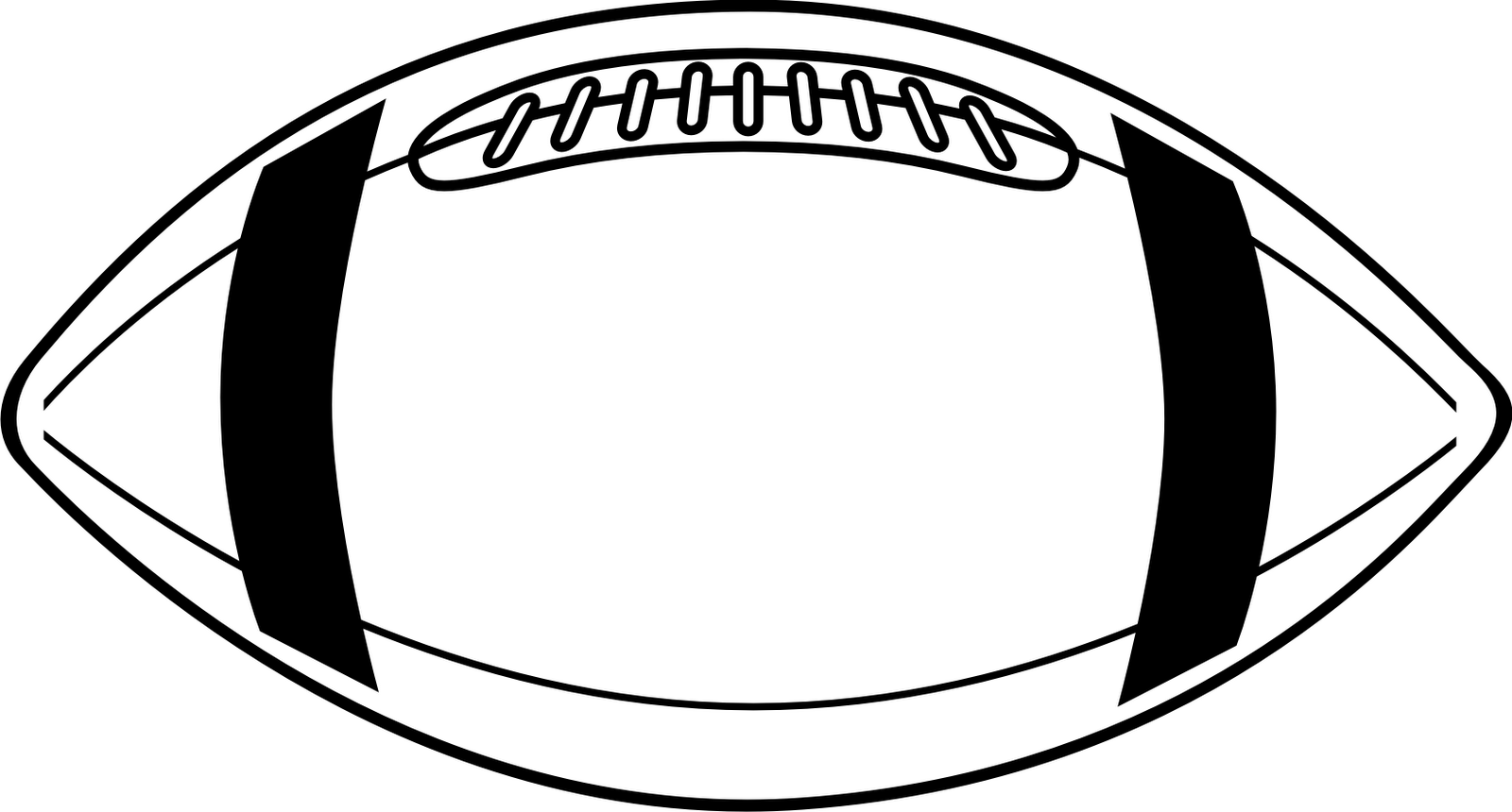 outline of a football football outline clipart clipartioncom football a of outline