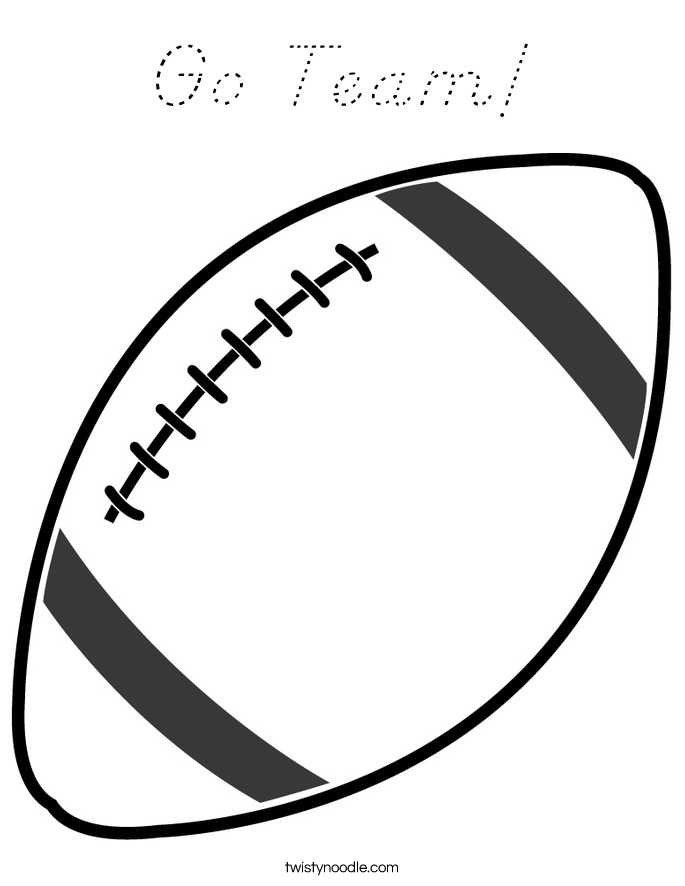 outline of a football go team coloring page d39nealian twisty noodle a outline football of