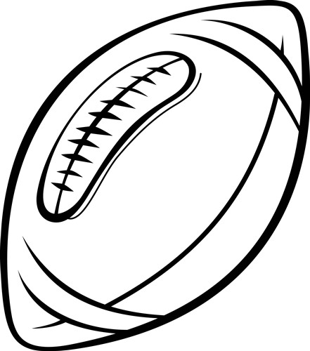 outline of a football outlines vector design football outline from grand slam outline football of a