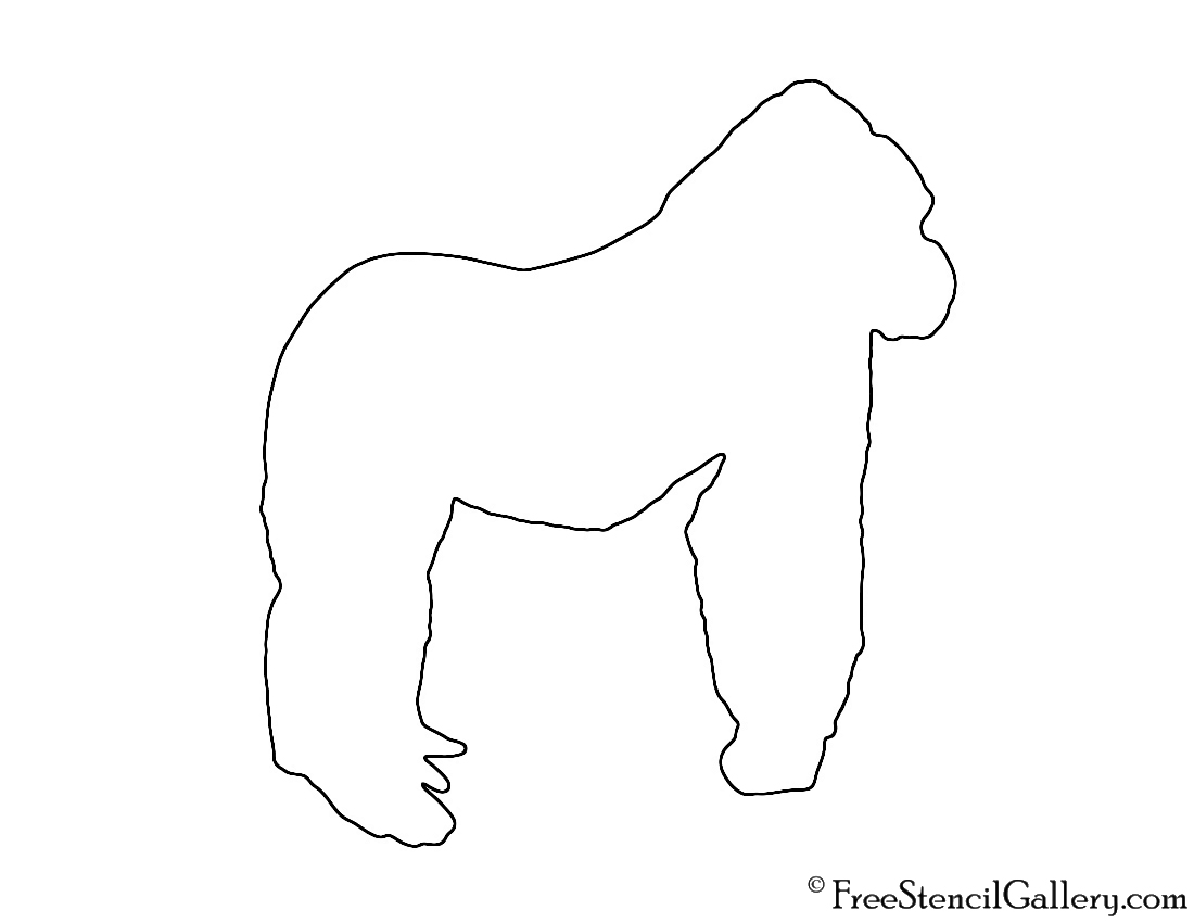 outline of a gorilla baby gorilla animal coloring pages art pages coloring a gorilla of outline