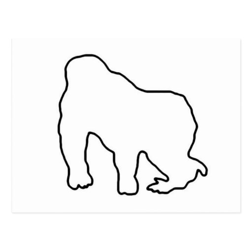 outline of a gorilla black gorilla illustration stock vector illustration of gorilla of outline a