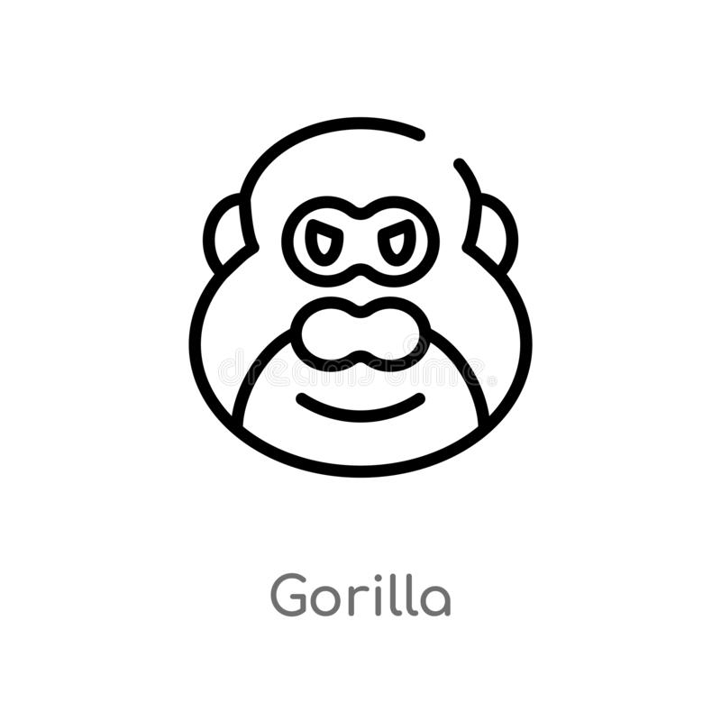 outline of a gorilla finish drawing the gorilla coloring page twisty noodle outline of a gorilla