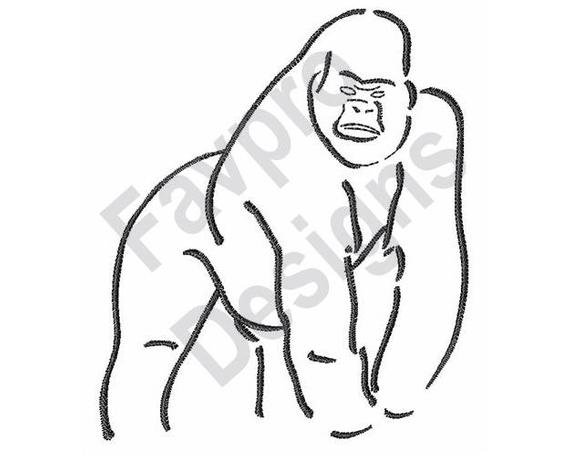 outline of a gorilla gorilla cartoon clip art clipartsco a gorilla outline of