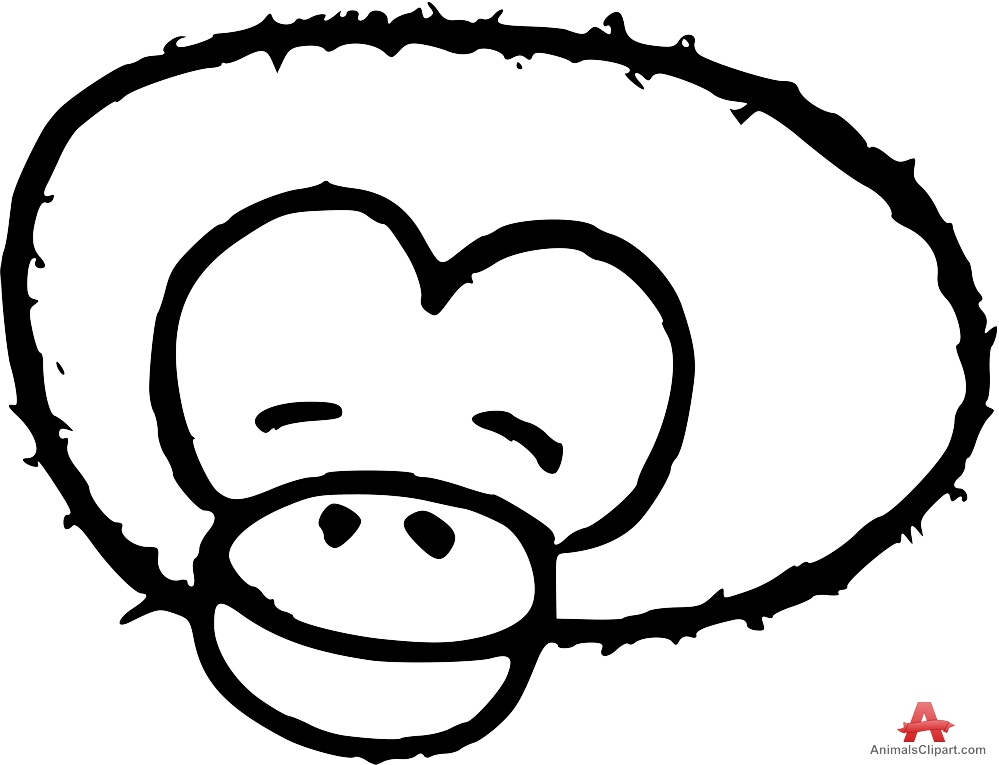 outline of a gorilla gorilla head drawing at getdrawings free download of gorilla outline a