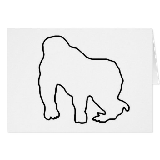 outline of a gorilla gorilla outline clip art at clkercom vector clip art a outline of gorilla