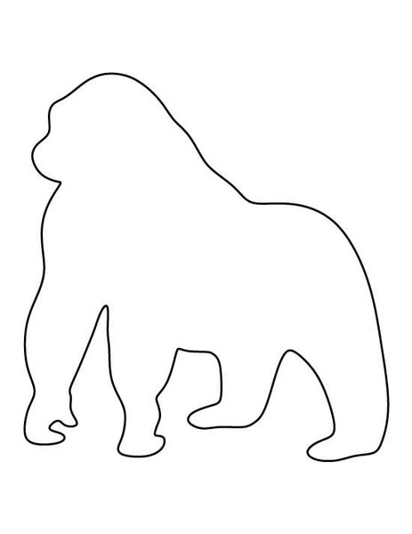 Outline of a gorilla
