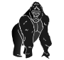 outline of a gorilla gorilla outline for classroom therapy use great outline gorilla of a