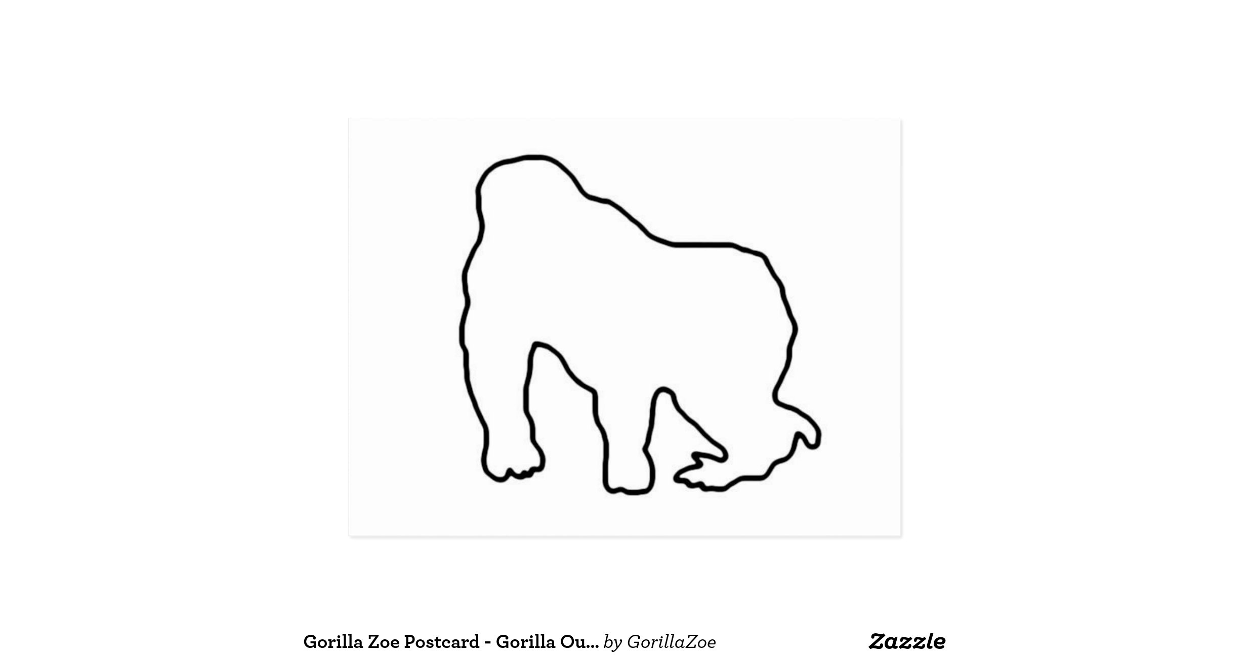 outline of a gorilla gorilla outline machine embroidery design a of gorilla outline