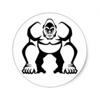 outline of a gorilla gorilla tattoo designs page 2 tattooimagesbiz a outline of gorilla