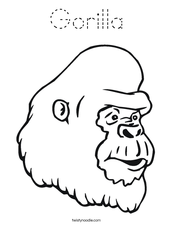 outline of a gorilla mountain gorilla outline stock vector illustration of outline a gorilla of