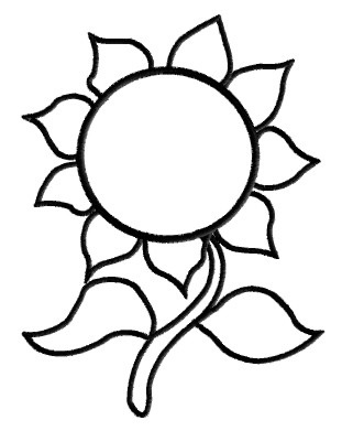 outline of a sunflower sunflower clipart outline and more tortagialla a outline sunflower of