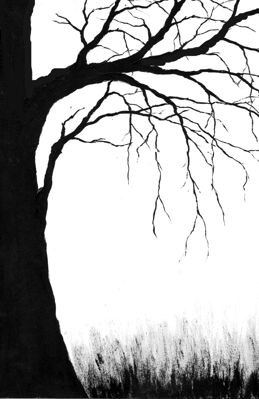 outline of a tree christmas tree drawing outline at paintingvalleycom of tree a outline