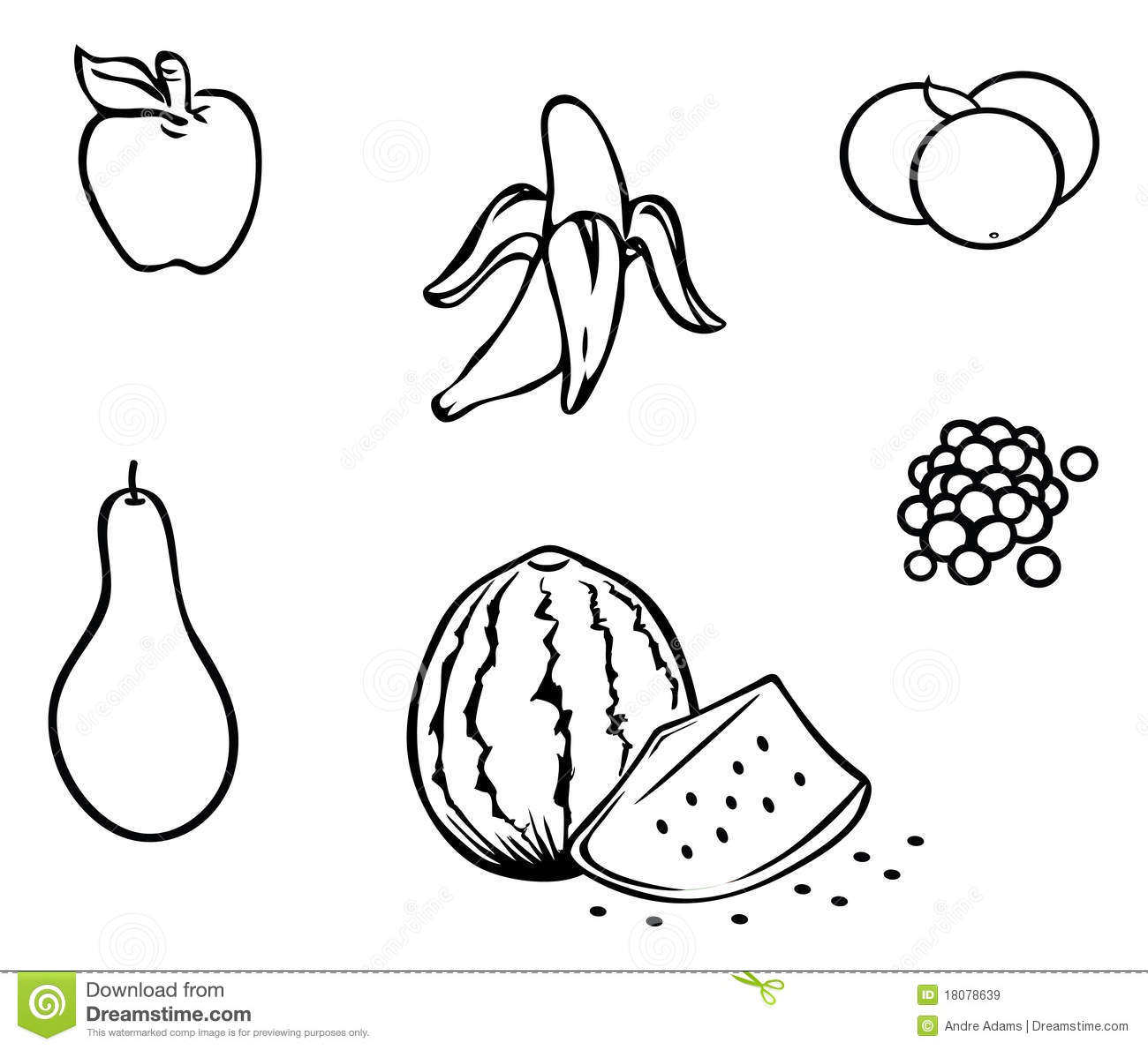 outline of fruits pictures fruit bowl template fruit basket coloring pages fruit fruits outline of pictures
