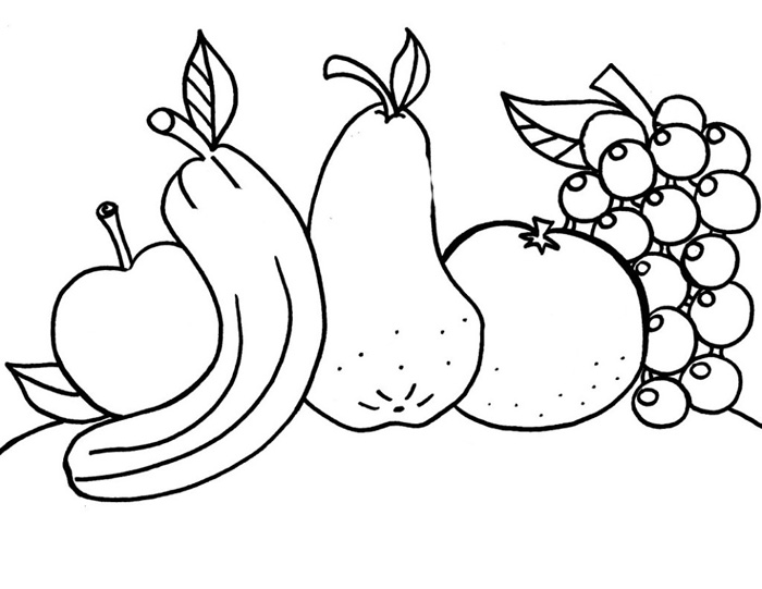 Outline of fruits pictures