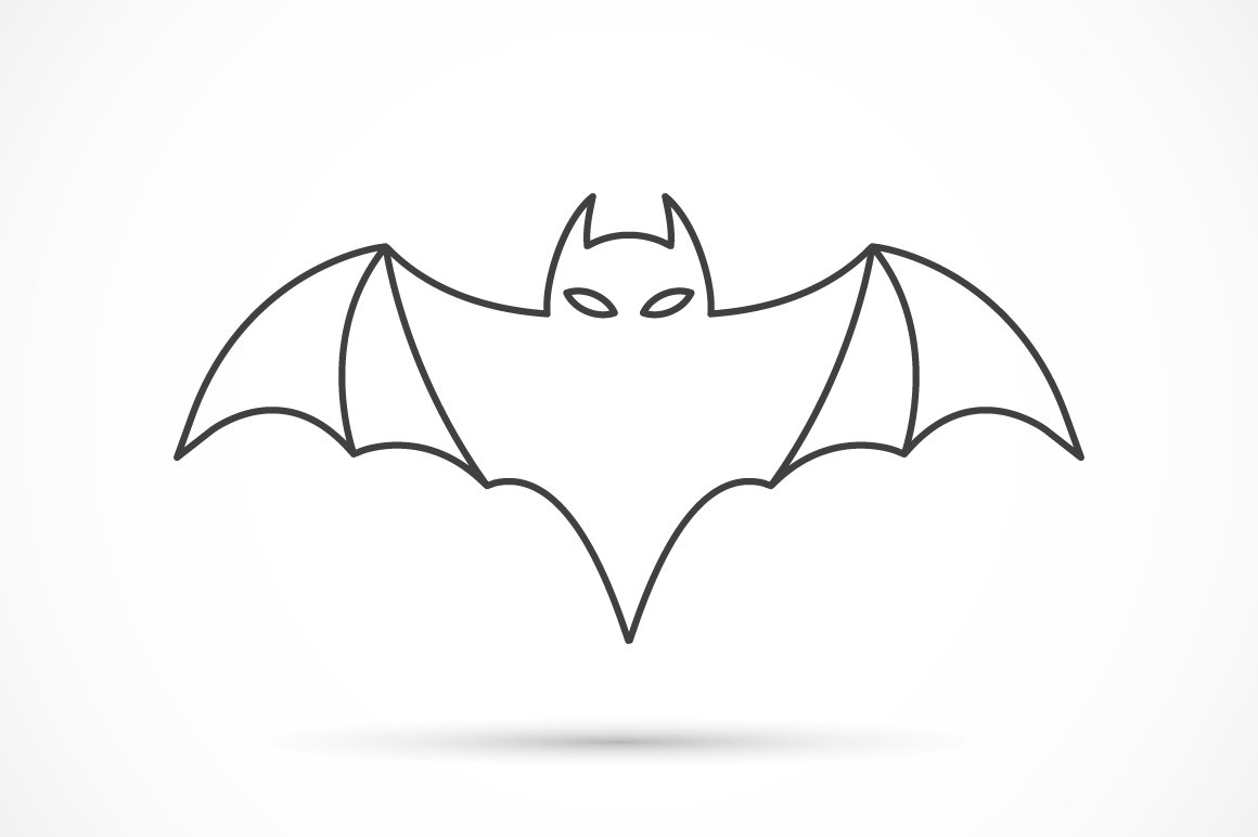 outline picture of bat bat drawing outline at getdrawings free download bat of picture outline