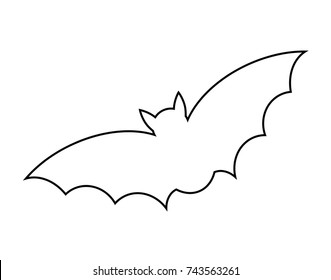 outline picture of bat bat outline drawing at getdrawings free download outline picture bat of