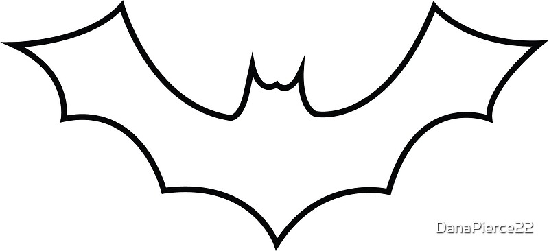 outline picture of bat bat outline icon icons creative market bat of outline picture