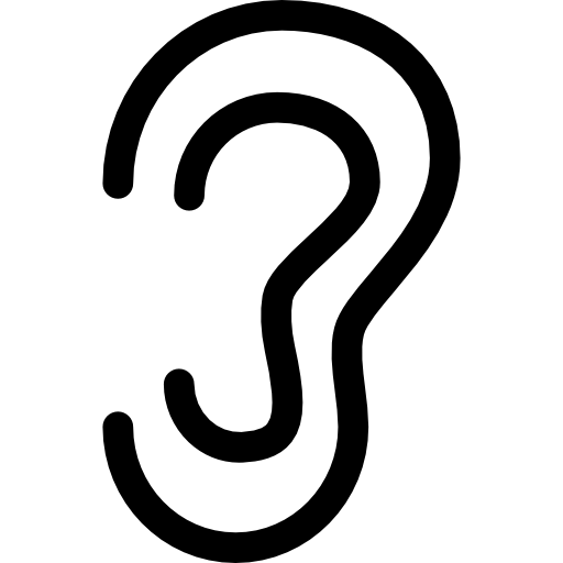 outline picture of ear drawing human ear outline vector illustration stock ear outline of picture