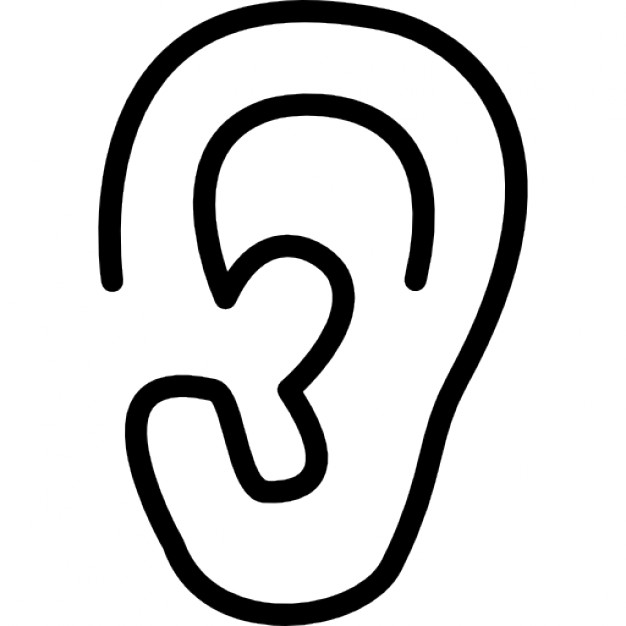 outline picture of ear ear clipart ear transparent free for download on picture outline of ear