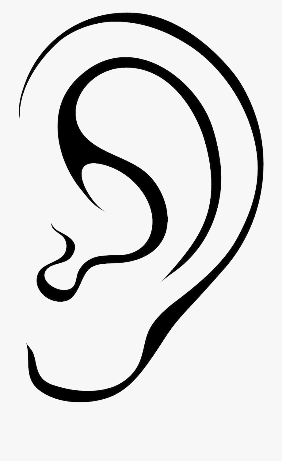 Outline picture of ear