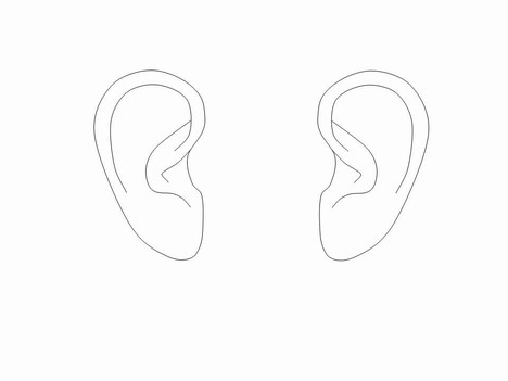 outline picture of ear ear icon line iconset iconsmind ear of picture outline