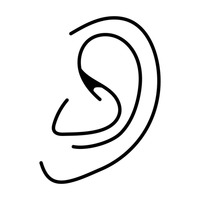 outline picture of ear ear outline free people icons outline ear picture of