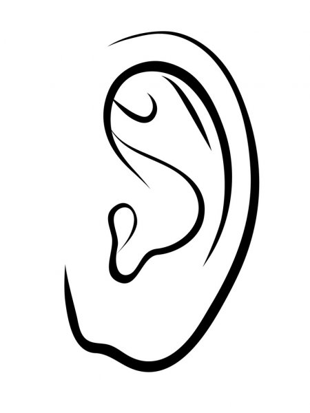 outline picture of ear ear outline free people icons picture ear of outline